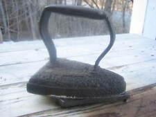 1800s Cast iron sad iron with base