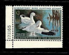 US #RW37 =  Mint-Never Hinged Federal Duck Stamp Plate Number Single [PNS]