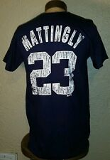 Majestic MLB New York Yankees #23 Don Mattingly Jersey Style T-Shirt Mens Medium