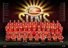 Gold Coast Suns 2017 AFL OFFICIAL Team Print Unframed Gary Ablett Jnr. Tom Lynch