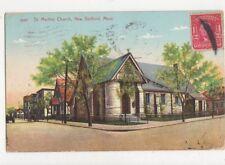 St Martins Church New Bedford Mass USA 1908 Postcard 493a