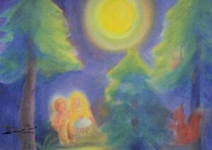 Postkarte: Dorothea Schmidt - Hänsel und Gretel