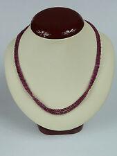 2-reihiges Collier / Halskette - aus Rubinen ca. 90ct - Schließe 585er Gold 14K