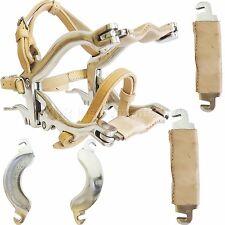YNR-equina SPECULUM Dentale Equino Bocca Gag con 6 piatti & Real Leather Straps