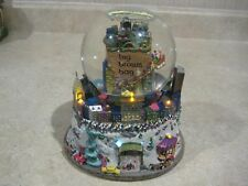Bloomindale's Big Brown Bag Nyc Musical Snow Globe with Lights Twin Towers Park