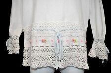 Girls K.C. Parker Easter Sweater Size 10 Crochet Rosette Detail Feminine Look
