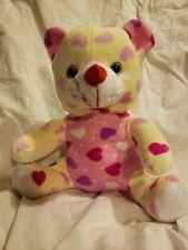 "Valentine's Day Sweetheart 10"" Pink n Red Heart Bear Stuffed Animal"