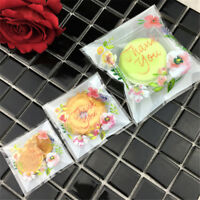 100Pcs Rose Cookie Wedding Birthday Biscuit Party Packaging Gift Candy Opp Bags