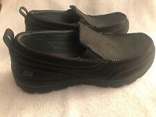 Skechers Relaxed Memory Foam MenS Slip On Sz 7 Shoes SN93892L Black/Gr Leather