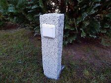 Gartensteckdose Granit Stein Stele Außensteckdose Steckdosensäule Gartendeko