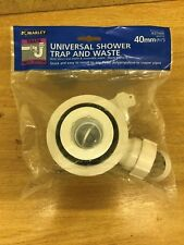 "1 x Marley 40mm (1 1/2"") Universal Shower Trap & Waste - Product Code KST4XR"