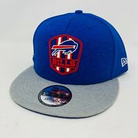 New Era Buffalo Bills NFL Sideline Road Official 9FIFTY Snapback Hat Blue / Grey