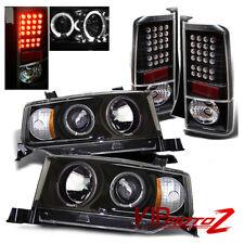 03-06 Scion xB Black Halo Projector Head Light + JDM LED Tail Lights Brake Lamp