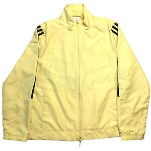 Adidas Full Zip Windbreaker Women's Medium Yellow Lightweight Jacket