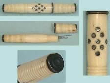 Antique Bone Needle Case w/ Steel Spangles * English * Circa 1800