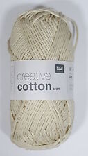 RICO DESIGN CREATIVE COTTON ARAN KNITTING YARN - 50g - ***ALL COLOURS***