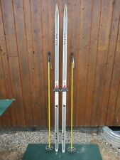 """GREAT Ready to Use Cross Country 81"""" Long ARTIS 205 cm Skis + Poles"""