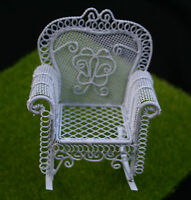 Wire Rocking Arm Chair 1:12 Scale Doll House Furniture Miniature gardens Bonsai