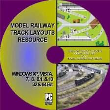 SUPERB MODEL RAILWAY TRACK LAYOUTS RESOURCE MULTI GAUGE HORNBY OO HO TT O PC CD