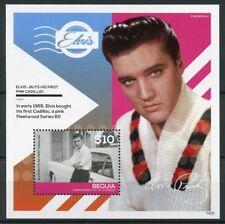 Bequia Gren St Vincent 2014 MNH Elvis Presley Pink Cadillac 1v S/S I Cars Stamps