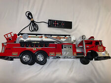 1988 New Bright #55 Fire Engine Vintage Electronic 27� Truck For Parts Repair