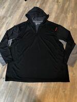 Reebok Hoodie Long Sleeve Stretch Pullover - Gray - Size 1X - EUC