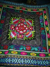 "Embroidery Pillow Sham 17""x17""  EUC"
