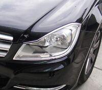 MERCEDES C CLASS W204 AND S204 2011 TO 2014 Chrome Headlight Trim x 2