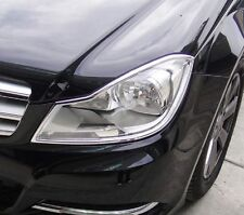 MERCEDES C CLASS W204 AND S204 2011 TO 2014 Chrome Headlight Trim x 2