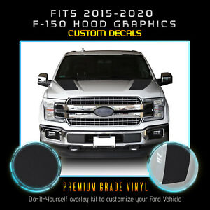 For 2015-2020 Ford F150 F-150 Hood Stripes Graphic Overlay Decals - Flat Matte