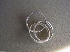 Echte Edelmetall-Ringe ohne Steine im Dreierring-Stil aus Sterlingsilber für Unisex