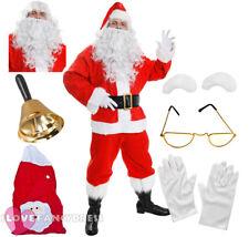 QUALITY SANTA COSTUME 12 PIECE FATHER CHRISTMAS FANCY DRESS SUIT XMAS S-XXXXXL