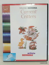 Studio Bernina Embroidery Design Card 547 Current Critters - Preowned