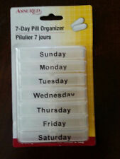 7 Day Pill/Med Organizer  White Case with Removable Boxes NEW in pack