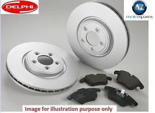 FOR RENAULT CLIO 1.2 1.4 1.5 DCi 1.6 2005> FRONT BRAKE DISCS SET + DISC PADS KIT