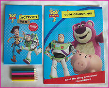 DISNEY TOY STORY 3 ACTIVITY PACK - 2 Books + Colour Pencils  Book Buzz Woody NEW