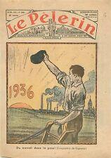 Agriculteur Paysan Charrue Monde Agricole Champ de Blé catholique Français 1935