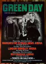 Green Day rare UK tour 2001 Flyer punk ( Rancid The OFFSPRING Nofx Ramones )
