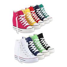 Damen Kinder Herren Sneakers Keilabsatz Sneaker-Wedges Stoffschuhe 816718 Schuhe