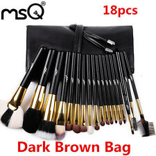 MSQ Full Function 18Pcs Professional Makeup Brush Sets Animal Hair Make up Brush