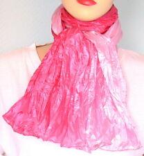 Chèche 2 tons Rose clair-Rose foncé tissu satiné brillant accesssoire mode femme