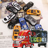 Portable Container Truck with 12Pcs Diecast Alloy Car Model Toy Set Kids Gift