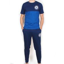 Chelsea FC Official Football Gift Mens Premium Long Pyjamas Set