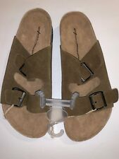 New American Eagle Leather Sandals Faux Birkenstock Men's -Size 10 NWT Tan
