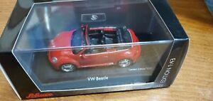Schuco 2013 VW Beetle Cabrio Convertible Tornado Red 450747700