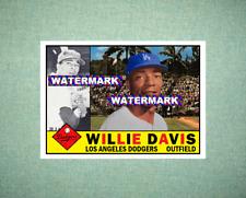 Willie Davis Los Angeles Dodgers 1960 Style Custom Art Card