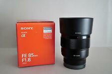 Das Sony 85 mm F1,8 für  Sony E-Mount Vollformat - nahezu ladenneu