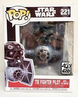 Funko Pop Star Wars Tie Fighter Pilot with Tie Fighter #221 Vinyl Figure New