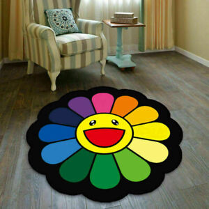 Takashi Murakami Sunflower Cool Floor Rug Carpet Room Doormat Non-slip Chair #UK