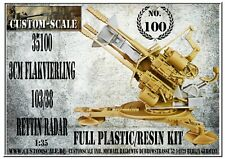 1:35 35100 3cm Flakvierling 103-38 Rettin Radar kompletter Bausatz Customscale